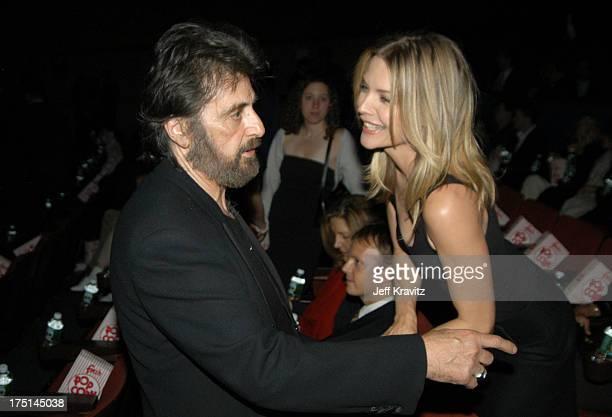 Scarface cast members Al Pacino and Michelle Pfeiffer at the 20th Anniversary premiere event celebrating the theatrical rerelease held at the City...