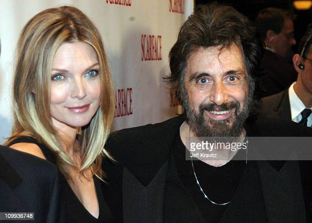 Scarface cast members Michelle Pfeiffer and Al Pacino at the 20th Anniversary premiere event celebrating the theatrical rerelease held at the City...