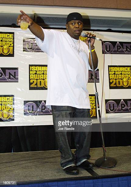 Scarface speaks after receiving the award for Lyricist of the Year August 20 2001 at the Source HipHop Awards in Miami Beach FL