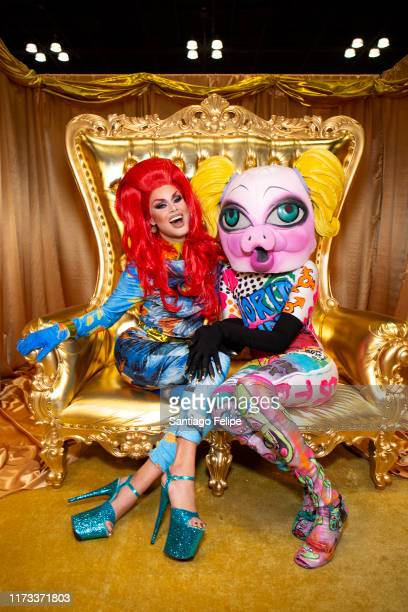 Scarlet Envy and MX QWERRRK attend RuPaul's DragCon 2019 at The Jacob K Javits Convention Center on September 08 2019 in New York City