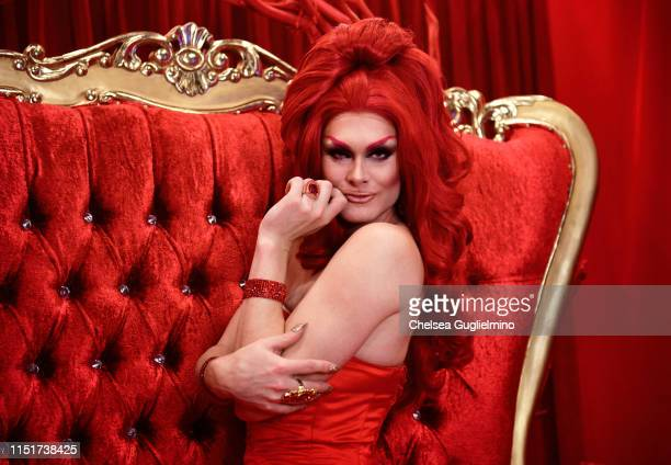 Scarlet Envy attends RuPaul's DragCon LA 2019 at Los Angeles Convention Center on May 25 2019 in Los Angeles California
