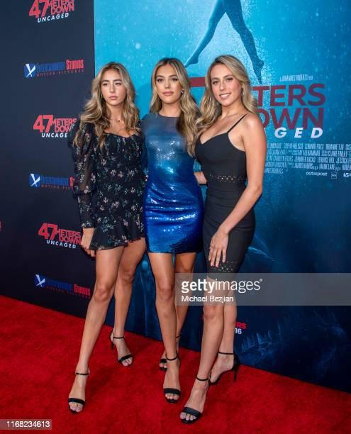 Scarlet Rose Stallone Sistine Rose Stallone and Sophia Rose Stallone attend the LA Premiere of 47 Meters Down UNCAGED on August 13 2019 in Los...