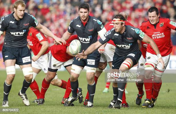 Scarlets' Lou Reed goes for the ball during the Heineken Cup match at Thomond Park Limerick Ireland