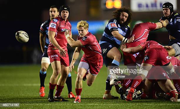 Scarlets player Aled Davies in action during the Guinness Pro 12 match between Cardiff Blues and Scarlets at on December 19 2014 in Cardiff United...