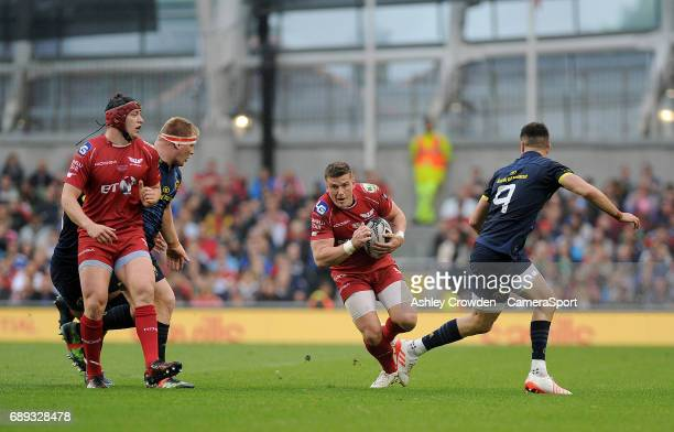 Scarlets' Scott Williams in action during the Guinness PRO12 Final match between Munster and Scarlets at the Aviva Stadium on May 27 2017 in Dublin...