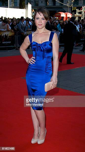 Scarlett Alice Johnson arrives at the UK premiere of 'Adulthood' at the Empire Leicester Square on June 17 2008 in London England