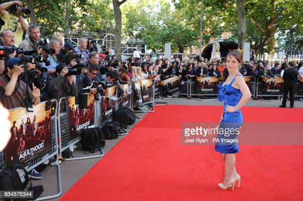 Scarlett Alice Johnson arrives for the World Premiere of Adulthood at the Empire Leicester Square in central London