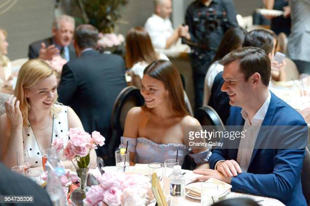 Scarlett Byrne and Playboy Chief Creative Officer Cooper Hefner attend Playboy's 2018 Playmate of the Year Celebration at Beauty Essex on May 4 2018...