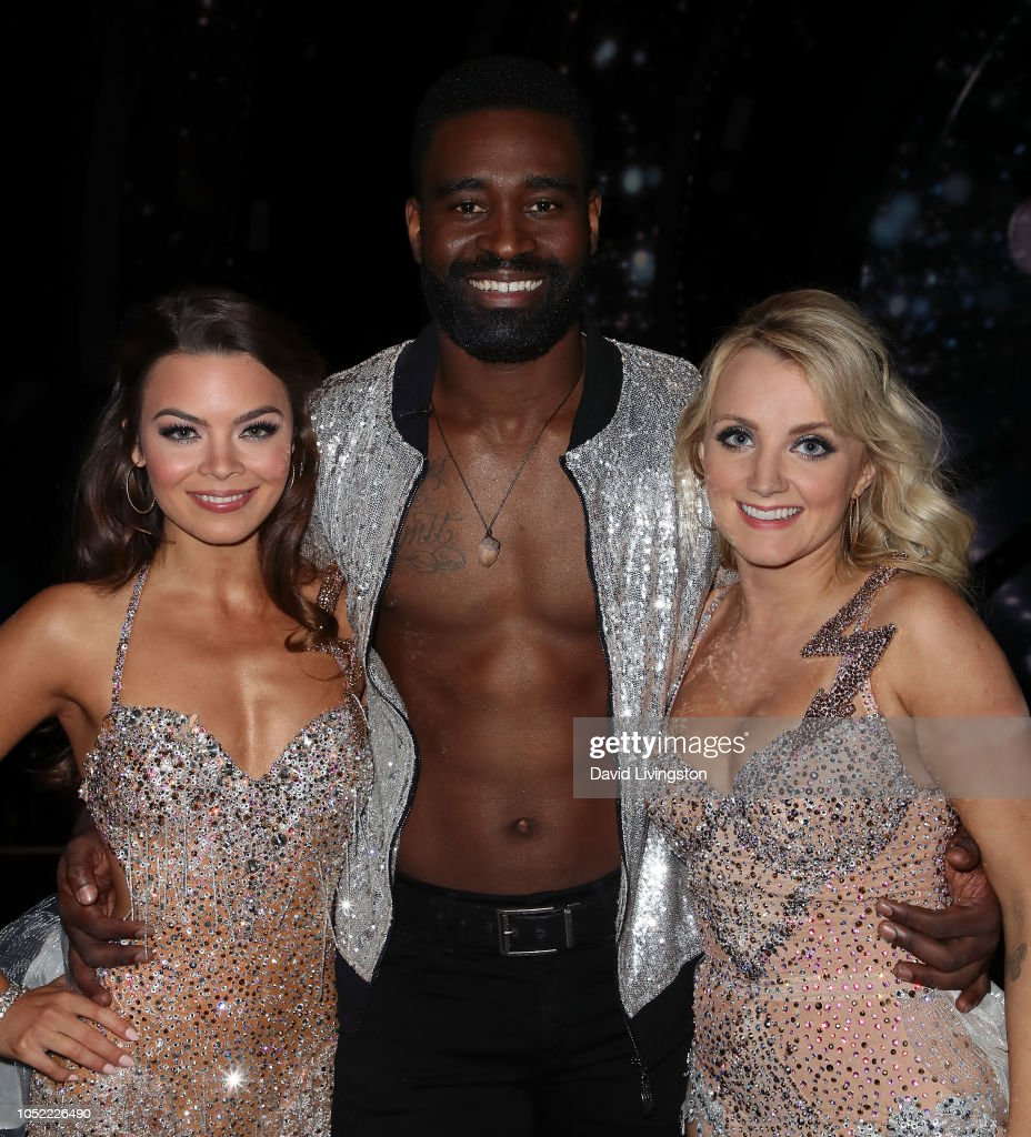 Scarlett Byrne Keo Motsepe And Evanna Lynch Pose At Dancing With News Photo Getty Images