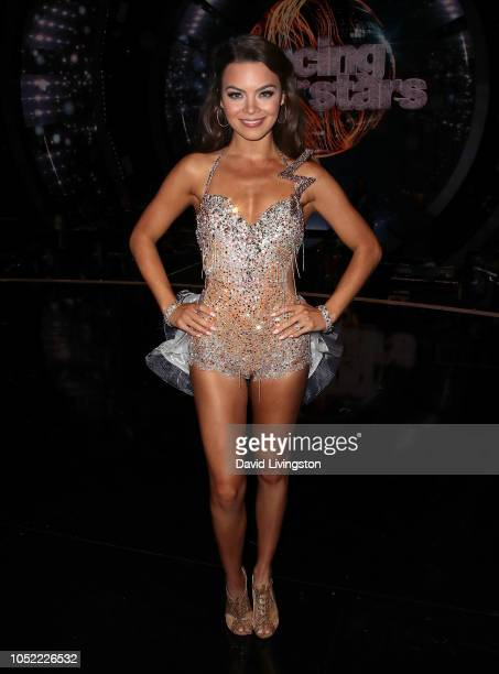 Scarlett Byrne poses at Dancing with the Stars Season 27 at CBS Televison City on October 15 2018 in Los Angeles California
