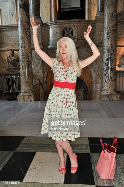 Scarlett Cannon attends the Club To Catwalk London Fashion In The 1980's exhibition at Victoria Albert Museum on July 8 2013 in London England