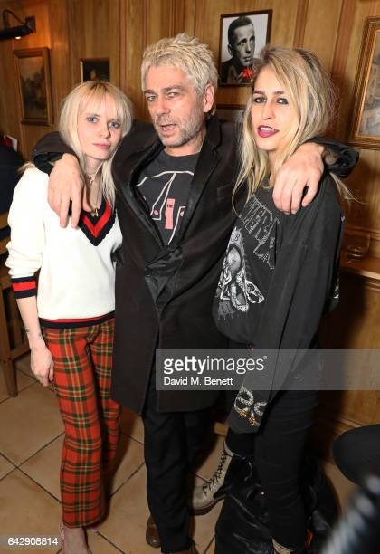 Scarlett Carlos Clark Tim Noble and Alice Dellal attend the Pam Hogg aftershow party during the London Fashion Week February 2017 collections at...