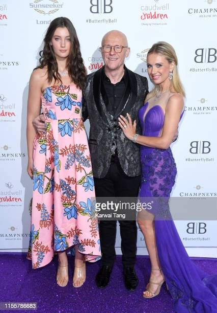 Scarlett Caudwell-Burgess, John Cauldwell and Modesta Vzesniauskaite attend the Butterfly Ball 2019 at The Grosvenor House Hotel on June 13, 2019 in...