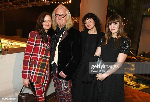 Scarlett Connolly, Billy Connolly, Cara Connolly and Amy Connolly attend the 21st National Television Awards at The O2 Arena on January 20, 2016 in...