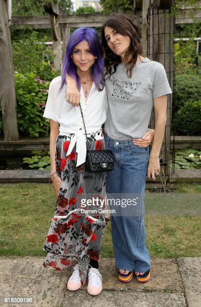 Scarlett Curtis and Bella Freud attend the J Brand x Bella Freud garden tea party on July 18 2017 in London England