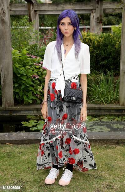 Scarlett Curtis attends the J Brand x Bella Freud garden tea party on July 18 2017 in London England