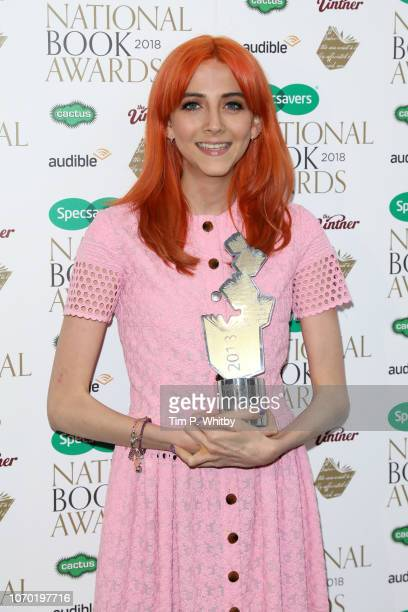 Scarlett Curtis author of 'Feminists Don't Wear Pink Amazing women on what the Fword means to them' with the award for Young Adult Book of the Year...
