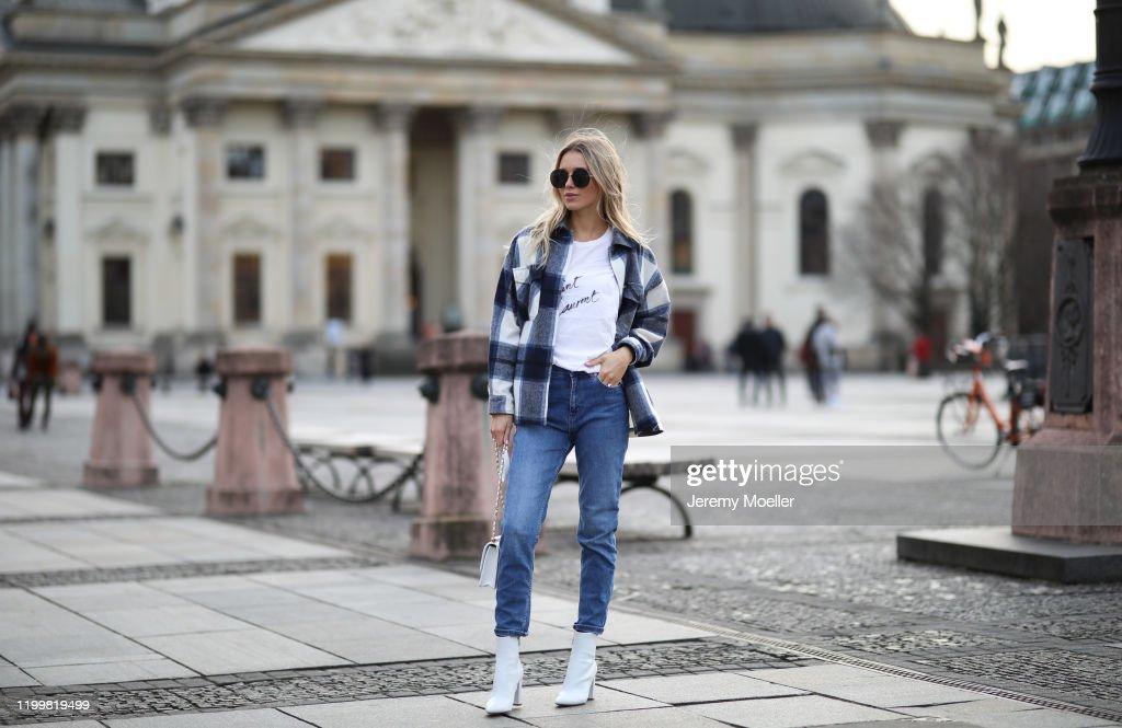 Street Style - Berlin Fashion Week Autumn/Winter 2020 - January 14, 2020 : ニュース写真