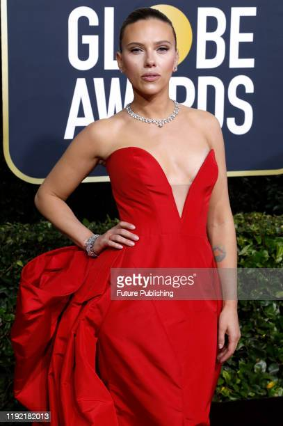 STATES JANUARY Scarlett Johanssen photographed on the red carpet of the 77th Annual Golden Globe Awards at The Beverly Hilton Hotel on January 05...
