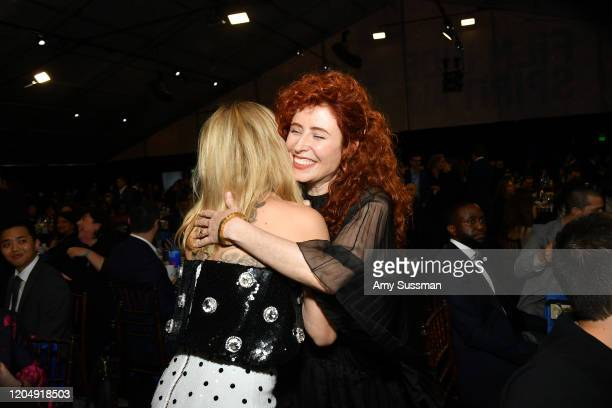 Scarlett Johansson and Alma Har'el attend the 2020 Film Independent Spirit Awards on February 08, 2020 in Santa Monica, California. (Photo by Amy...