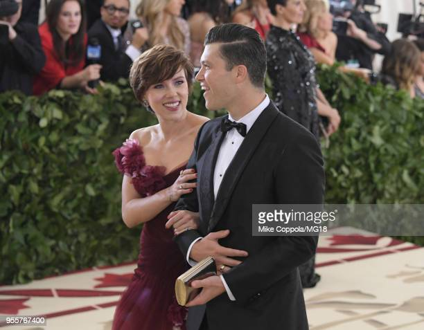 Scarlett Johansson and Colin Jost attend the Heavenly Bodies: Fashion & The Catholic Imagination Costume Institute Gala at The Metropolitan Museum of...
