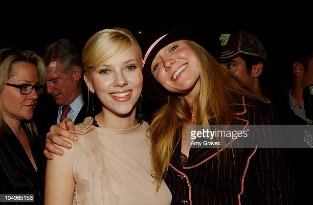 Scarlett Johansson and Dominique Swain during 'Girl With A Pearl Earring' Los Angeles Premiere AfterParty at The Academy of Motion Pictures Arts And...