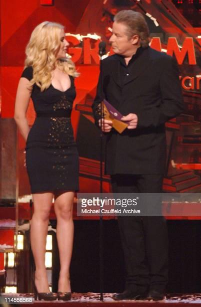 Scarlett Johansson and Don Henley present Album of the Year