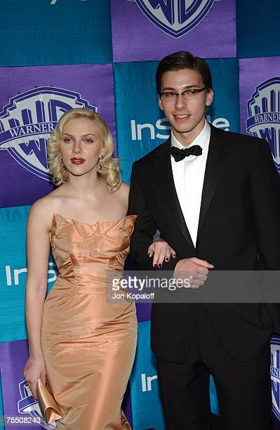 Scarlett Johansson and her twin brother Hunter at the 2005 InStyle/Warner Bros Golden Globes Afterparty Arrivals at Beverly Hills Hilton in Beverly...