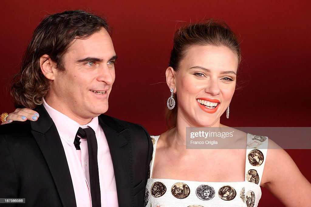 Scarlett Johansson and Joaquin Phoenix attend 'Her' Premiere during The 8th Rome Film Festival at Auditorium Parco Della Musica on November 10, 2013 in Rome, Italy.
