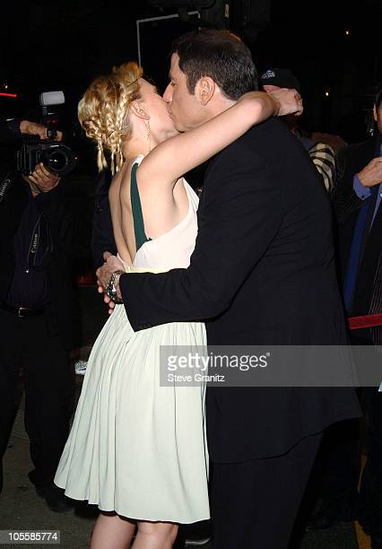 Scarlett Johansson and John Travolta during A Love Song for Bobby Long Los Angeles Premiere Arrivals at Mann Bruin Theatre in Westwood California...