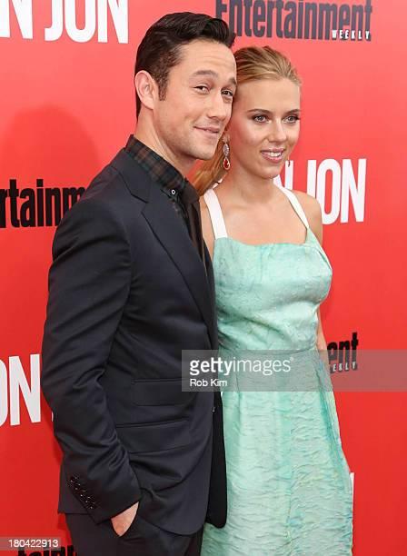 Scarlett Johansson and Joseph GordonLevitt attend the Don Jon New York premiere at SVA Theater on September 12 2013 in New York City