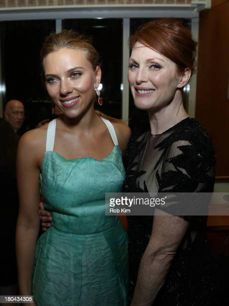 Scarlett Johansson and Julianne Moore attend Don Jon New York Premiere After Party at Top of The Standard Hotel on September 12 2013 in New York City
