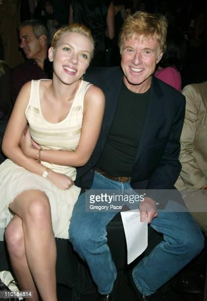 Scarlett Johansson and Robert Redford