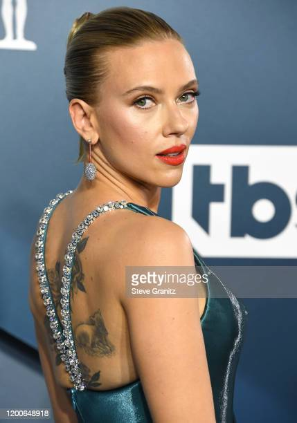 Scarlett Johansson arrives at the 26th Annual Screen ActorsGuild Awards at The Shrine Auditorium on January 19, 2020 in Los Angeles, California.