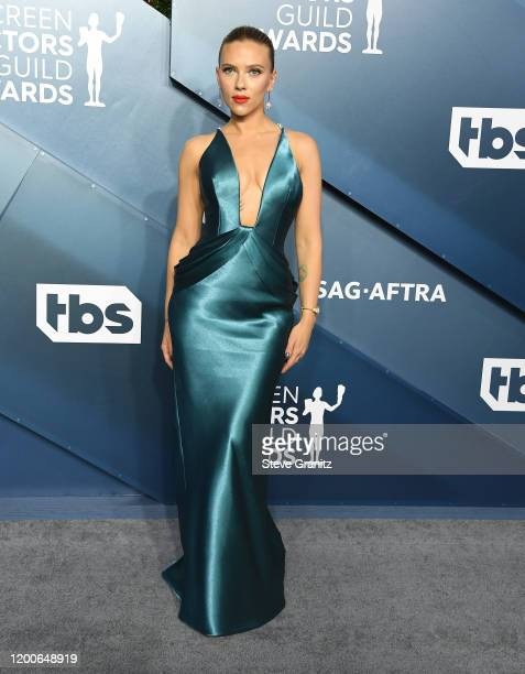 Scarlett Johansson arrives at the 26th Annual Screen Actors Guild Awards at The Shrine Auditorium on January 19, 2020 in Los Angeles, California.