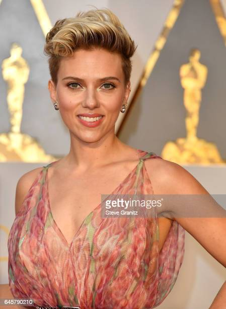 Scarlett Johansson arrives at the 89th Annual Academy Awards at Hollywood Highland Center on February 26 2017 in Hollywood California