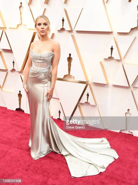 Scarlett Johansson arrives at the 92nd Annual Academy Awards at Hollywood and Highland on February 09 2020 in Hollywood California