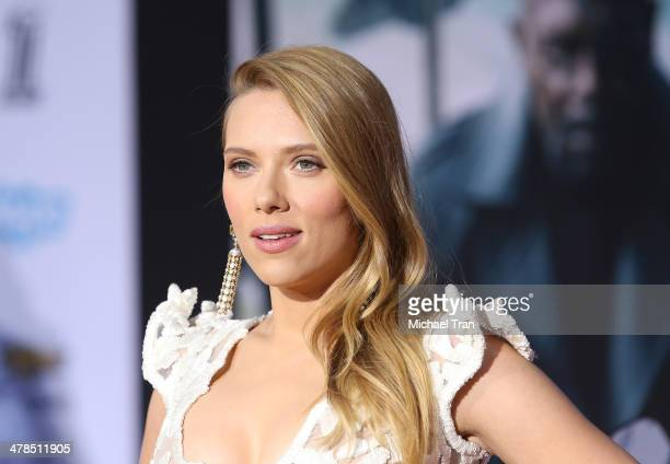 Scarlett Johansson arrives at the Los Angeles premiere of Captain America The Winter Soldier held at the El Capitan Theatre on March 13 2014 in...