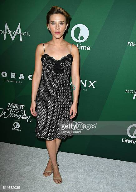 Scarlett Johansson arrives at the Variety's Power Of Women Luncheon 2016 at the Beverly Wilshire Four Seasons Hotel on October 14 2016 in Beverly...