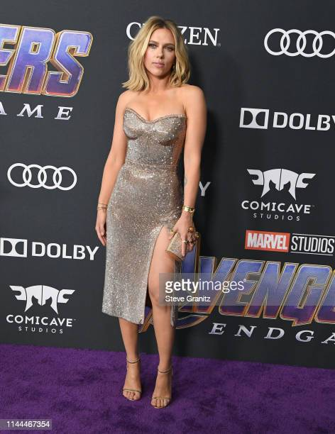 Scarlett Johansson arrives at the world premiere Of Walt Disney Studios Motion Pictures Avengers Endgame at Los Angeles Convention Center on April 22...