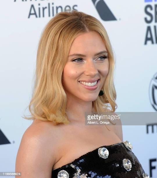 Scarlett Johansson arrives for the 2020 Film Independent Spirit Awards held on February 8, 2020 in Santa Monica, California.