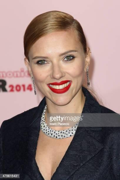 Scarlett Johansson arrives for the 39th Cesar Film Awards 2014 at Theatre du Chatelet on February 28 2014 in Paris France