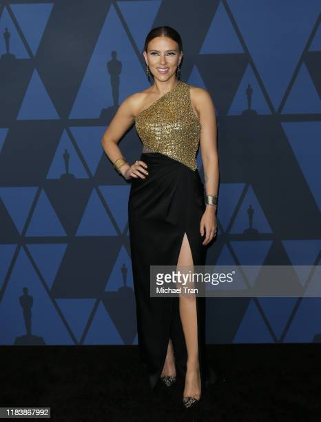 Scarlett Johansson arrives to the Academy of Motion Picture Arts and Sciences' 11th Annual Governors Awards held at The Ray Dolby Ballroom at...