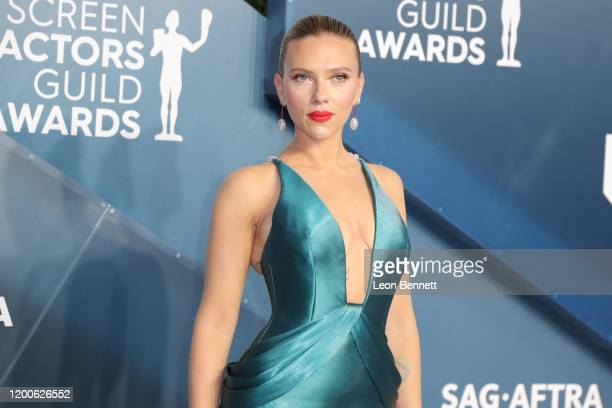 Scarlett Johansson attends 26th Annual Screen Actors Guild Awards at The Shrine Auditorium on January 19, 2020 in Los Angeles, California.