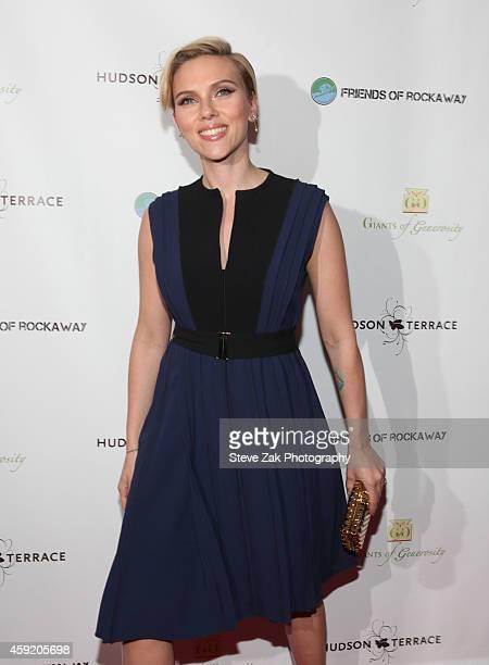 Scarlett Johansson attends 2nd Annual Champions Of Rockaway Hurricane Sandy Benefit at Hudson Terrace on November 18 2014 in New York City