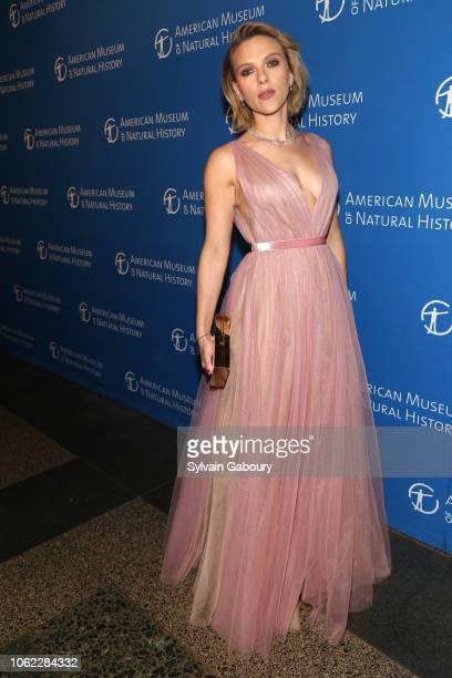 Scarlett Johansson attends American Museum Of Natural History's 2018 Museum Gala at American Museum of Natural History on November 15 2018 in New...