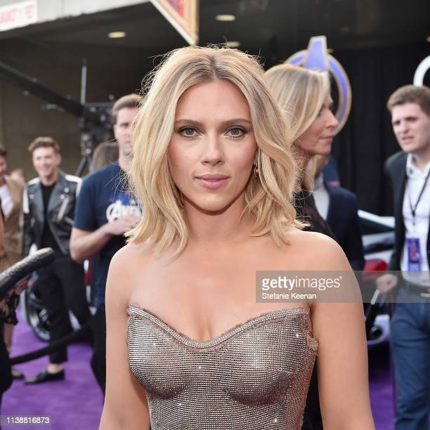 Scarlett Johansson attends Audi Arrives At The World Premiere Of Avengers Endgame on April 22 2019 in Hollywood California