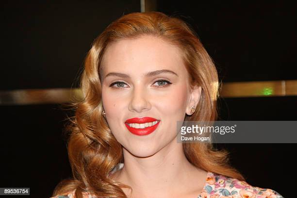 Scarlett Johansson attends Dolce and Gabanna The make up launch held at Selfridges depatment store London on July 31 2009 in London England