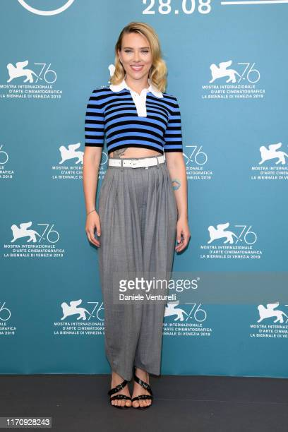 Scarlett Johansson attends Marriage Story photocall during the 76th Venice Film Festival at Sala Grande on August 29 2019 in Venice Italy