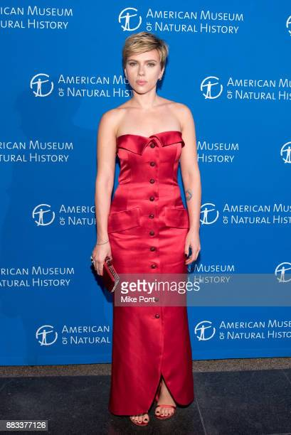 Scarlett Johansson attends the 2017 American Museum of Natural History Museum Gala at the American Museum of Natural History on November 30 2017 in...